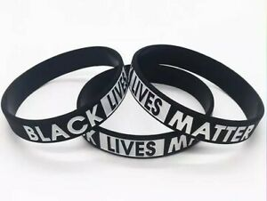 Black Lives Matter Silicone Premium Wristband [adult size] 4 for £3.59