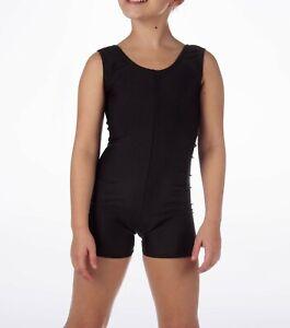 Kids Girls Shiny Sleeveless Unitard Bodysuit Dance Gymnastics Leotard