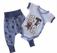 SALE! Baby Infant Boys Outfit Set of Bodysuit & Trousers 100% Cotton *0-3 Months