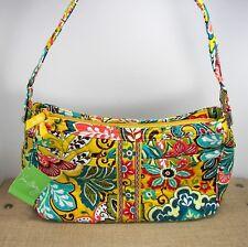 Vera Bradley Provencal Cassidy Satchel Shoulder Bag Purse Yellow Floral