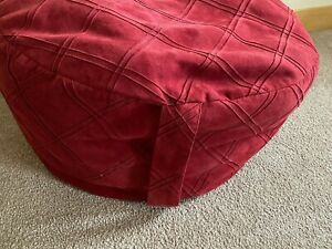 "Burgundy Bean Bag Cover 17"" round Red Slipcover Chair Children's by Company Kids"