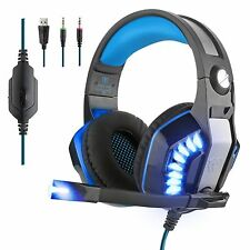 Beexcellent GM-2 Surround Sound Gaming Headset Headband Bass USB For PC+ MIC+LED