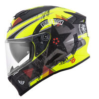 Casco integrale moto Suomy Stellar wrench matt yellow fluo grey pinlock