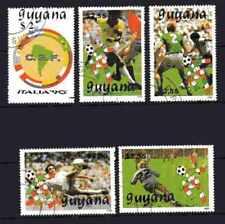Football Guyana (59) série complète 5 timbres oblitérés