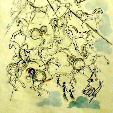 Salvador DALI 1904-1989 Farb-Radierung num & handsigniert 1966:LES CHAVAUX BLUES