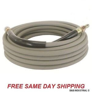 50 Foot Non-Marking Pressure Washer Hose - 4000 PSI 50 ft. Length 50' Gray