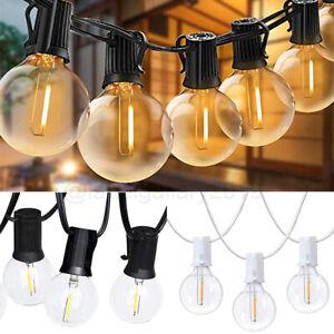 18/50/100FT Waterproof G40 Globe LED Bulbs Patio Hanging String Lights Outdoor