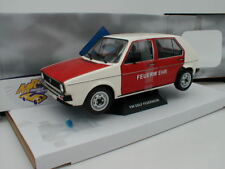 """Solido s1800207-VW Golf 1 anno di costruzione 1974 in bianco-rosso """"POMPIERI"""" 1:18 NUOVO!!!"""