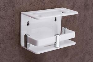 Acrylic Toothbrush & Toothpaste Wall Mounted Holder For Family Home Bathroom