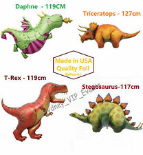 DINOSAUR PARTY T-REX TRICERATOPS ANIMAL BIRTHDAY JUMBO SUPER SHAPE FOIL BALLOONS