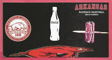 Arkansas Razorbacks Men's Basketball Photo Schedule 2009-10 - Coca-Cola