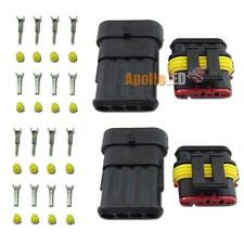 2 Sets 4-Pin Waterproof Wire Connectors Plugs (Headlights DRL Lights Retrofit)