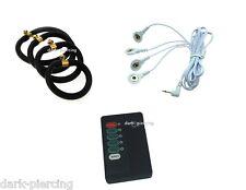 4 x Ring Elektroden inkl. Gerät 4 in 1 Kabel, REIZSTROM,EMS, TENS, E-STIM, ESTIM