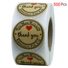500 Thank You Stickers Mini DIY Craft Red Heart Round Gift Lable Wedding Favours