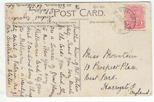 NSW 1906? Lane Cove Sydney scene on postcard with GULGONG CDS to UK