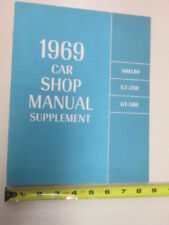 1969 Ford car Shop Manual Supplement Shelby GT350 GT500 Repair Book