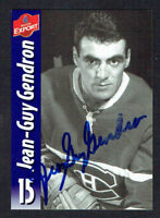 Jean-Guy Gendron #73 signed autograph auto Molson Export Hockey Trading Card