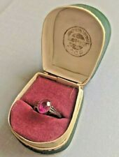 Vtg Ring Sterling Silver 875 Star Ruby USSR Russian Soviet Antique Vintage S8