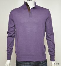 Nwt $165 POLO Ralph Lauren Merino Wool Turtleneck Mock Sweater Pullover Purple S