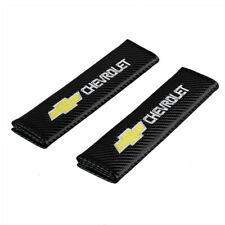2Pc for Chevrolet Chevy Logo Fiber Car Safe Seat Belt Shoulder Pads Cover Carbon