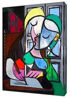 Pablo Picasso Marie Therese Paint Reprint on Framed Canvas Wall Art Decoration