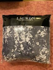 Ralph Lauren Eva Botanical FULL / QUEEN Comforter & Shams Set Navy Multi