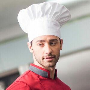 Adult Chefs Hat Catering Baker Elastic Adjustable Men Women Kitchen Cook Cap UK