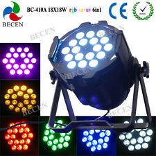 18X18W RGBWA UV 6IN1 LED PAR CAN Stage Lighting for wedding party decoration