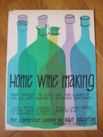vtg 1970s Nikki Schumann HOME WINE MAKING SILKSCREEN abstract beer bottle print
