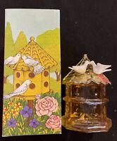Avon Vintage DOVECOTE DOVE DECANTER Clear Glass Bottle w/ Charisma Cologne