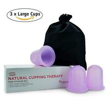 Derma Medico Silicone Body Massage Cups for Natural Cupping Therapy-FREE Storage
