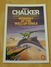 PENGUIN SCI-FI BOOK POSTCARD ~ 'MIDNIGHT AT THE WELL OF SOULS' JACK L. WALKER