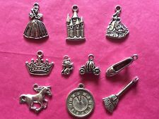 Tibetan Silver Cinderella Themed Mixed Charms 10 per pack