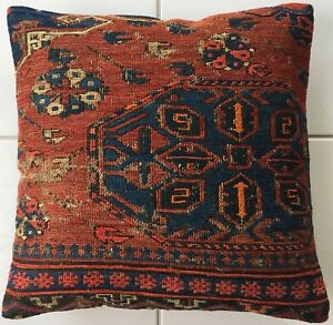 Kelim Kissen Rot Antike Retro Daghestan Sumach Antique Caucasus Pillow Cushion