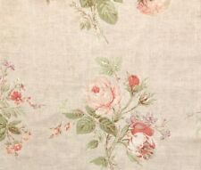 COLEFAX & FOWLER Constance Pink Green Floral Linen Remnant New