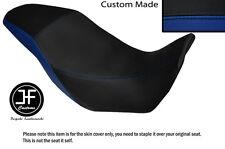 BLACK AND ROYAL BLUE VINYL CUSTOM FITS HONDA CB 500 X 13-14 DUAL SEAT COVER ONLY