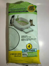 """New listing Breeze Tidy Cat Litter Pads 16.9""""x11.4""""(1 pack of 4 pads)"""