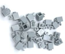 Lego 25 New Light Bluish Gray Bricks Modified 1 x 1 with Clip Horizontal Parts