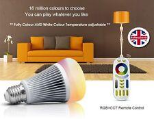 ** NEW ** MiLight RGB Colour + Dual White 2.4GHz LED Light Bulb (inc Remote)-E27