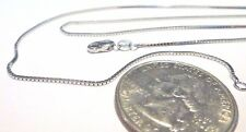 14K Pure Solid White Gold 16 inch 1MM BOX CHAIN - Lobster Lock...... Guaranteed!