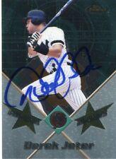 DEREK JETER New York Yankees HOF Signed 2001 Topps Finest All Star Card JSA COA