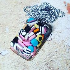 Unique! LIQUORICE ALLSORTS NECKLACE handmade KITSCH resin MiXED UP DOLLY fab!