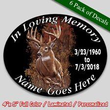 In Loving Memory vinyl decal full color Deer theme Memorial sticker