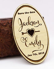 Custom Engraved Wooden Magnet Personalized Gift 20 Rustic Wedding-tc2