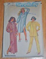 VTG Simplicity Misses' Nightgown Pajamas Nightshirt Sz Small Sewing Pattern 6651