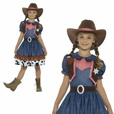 Texan Cowgirl Girls Fancy Dress Rodeo Wild West Western Kids Childs Costume