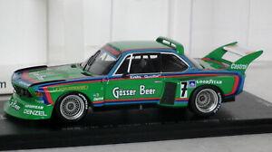 Spark BMW CSL 1st 1976 1000km Nurburgring 1/43 SG022 Quester Krebs 1/500 Boxed
