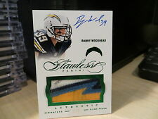 Panini Flawless Emerald Autograph Jersey Chargers Danny Woodhead  4/5  2014