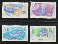 Viet Nam 1965 MNH Sc 385-388 Tsiolkovski,Gagarin,Leonov,Belyaev.Voskhod 2 LUXUS