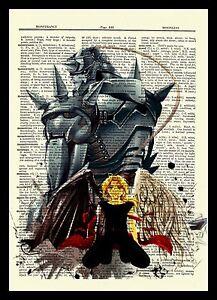 Fullmetal Alchemist Edward Alphonse Anime Dictionary Art Print Poster Full Metal